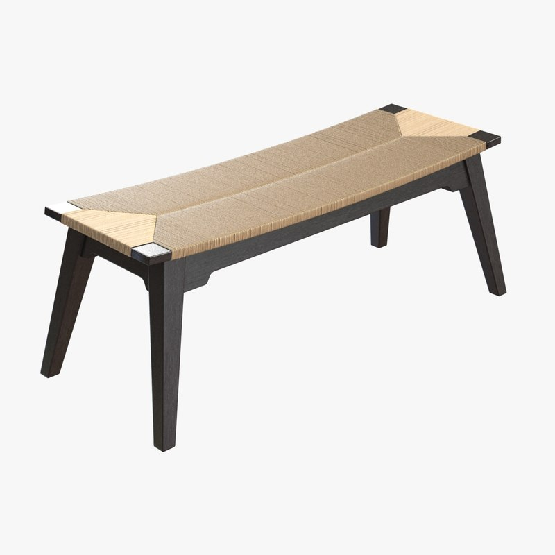 bench bed curved 3D