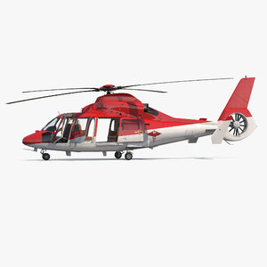 helicopter emergency medical eurocopter 3D model