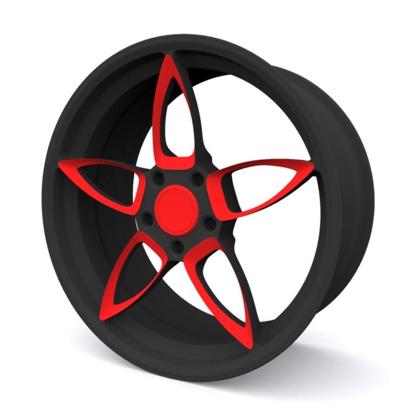 3D concept car wheel