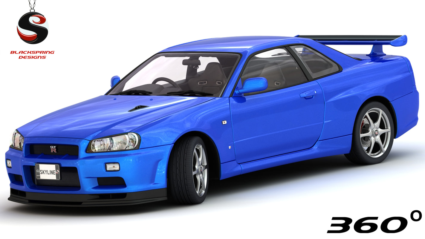 3d Nissan Skyline Gt R V Spec Turbosquid 1187173