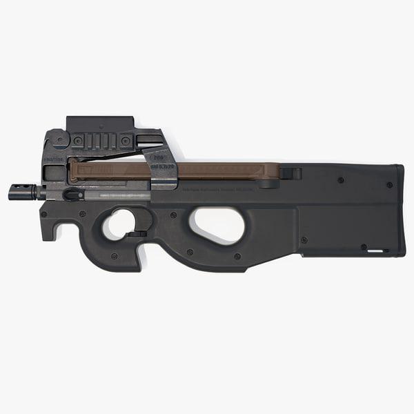 fn p90 personal defense 3D model