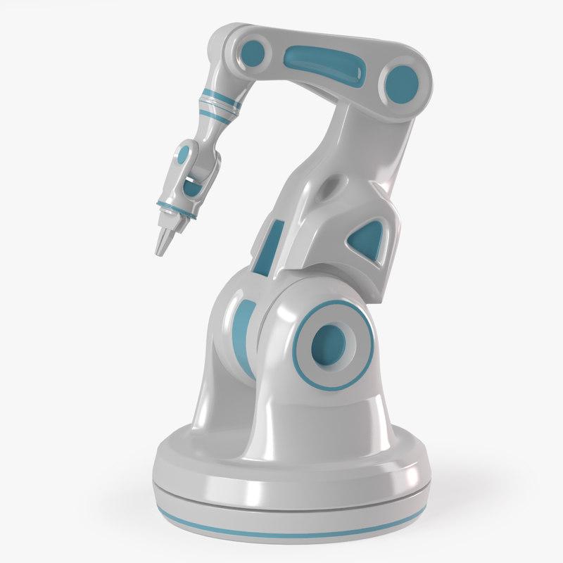 3D sci-fi robotic arm laboratory