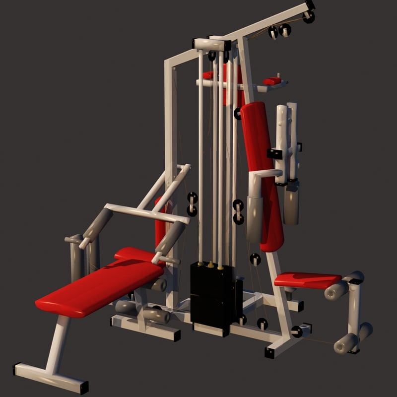 fitness equipment 3D model