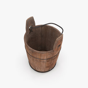 3D model antique bucket