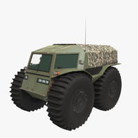 sherp russian swamp-boat 3D model
