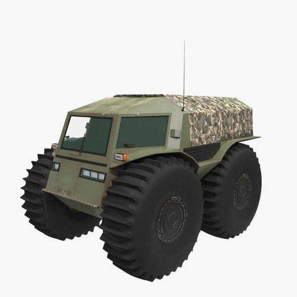 sherp russian swamp-boat 3D model