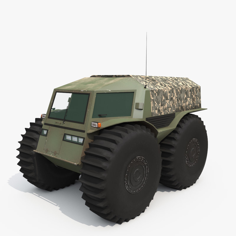 Sherp russian swamp-boat 3D model - TurboSquid 1187194