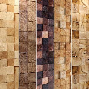 3D wooden mosaic