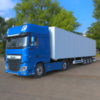 DAF XF Euro 6 (2018) with Semi-Trailer