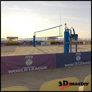 3D volleyball arena