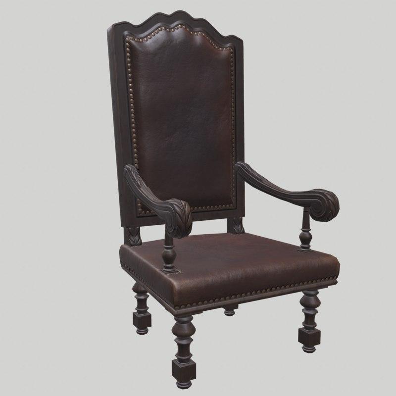3D chair carved armchair