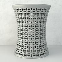 3D ceramic stool model