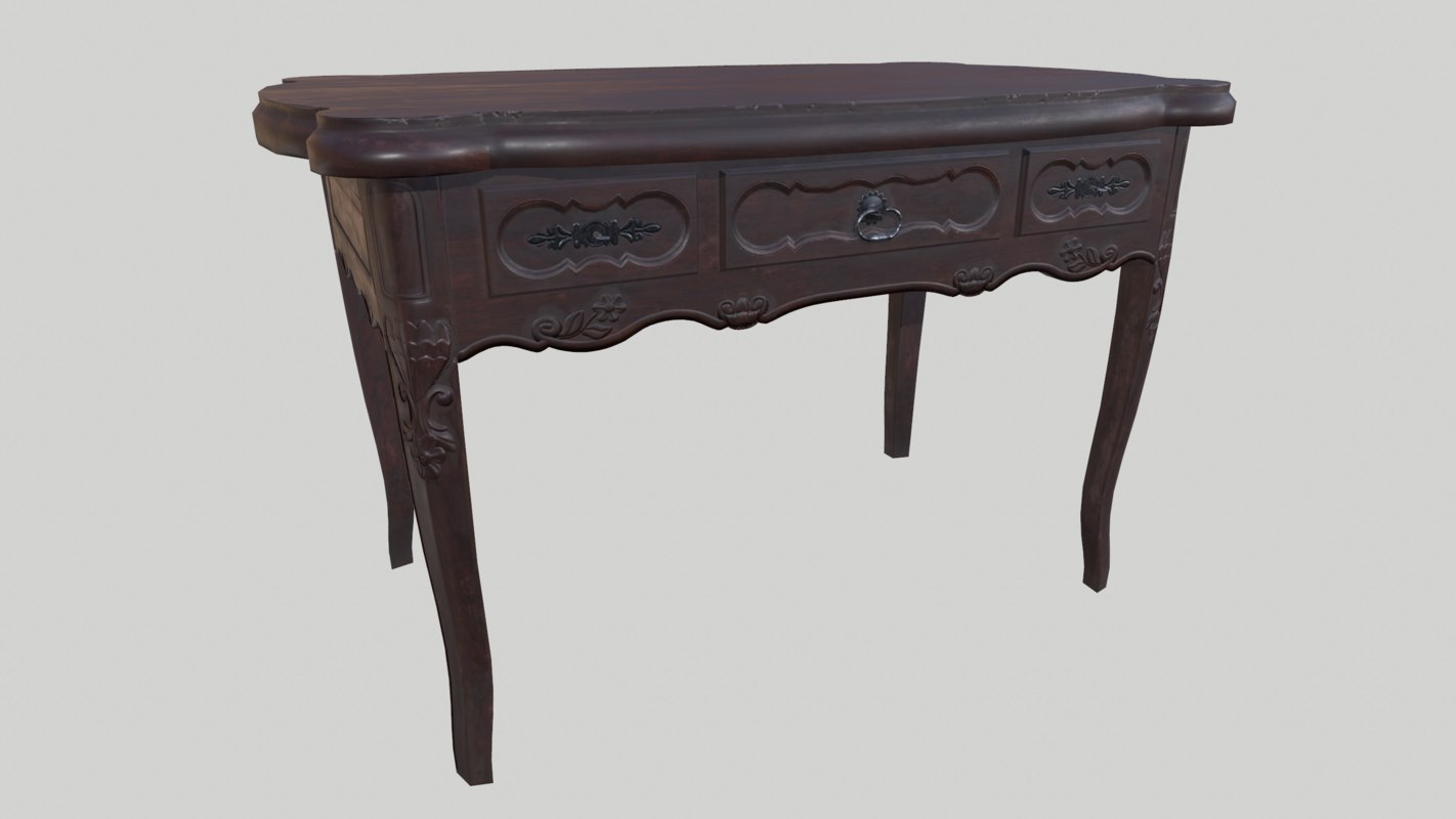 carved table model
