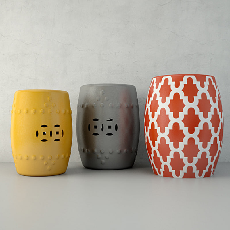 ceramic tables 3D