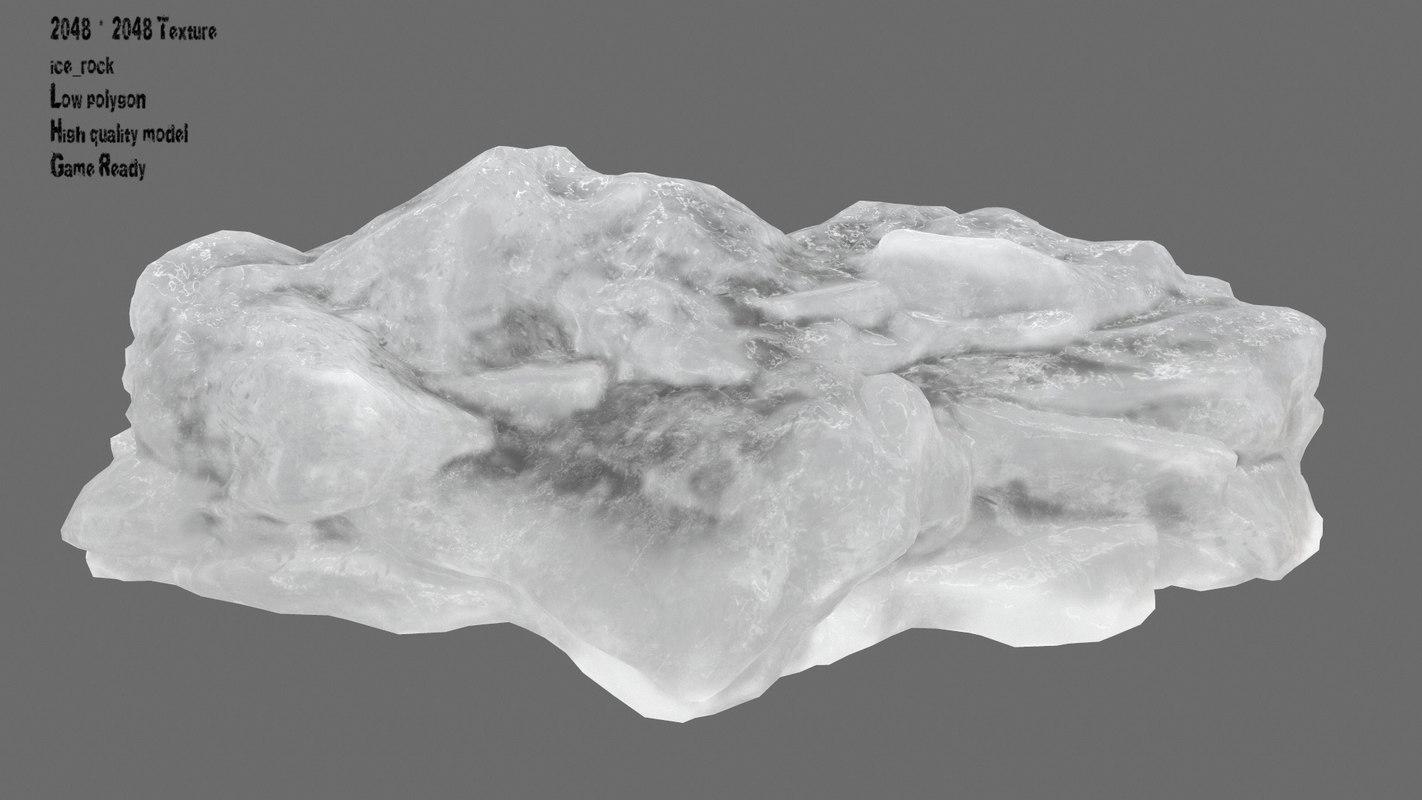 3D ice temple model
