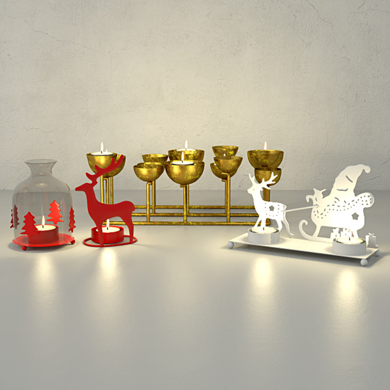 3D christmas candle holders zara