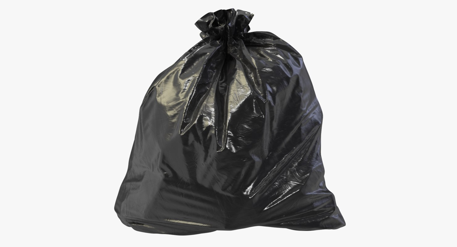 3D realistic garbage bag model