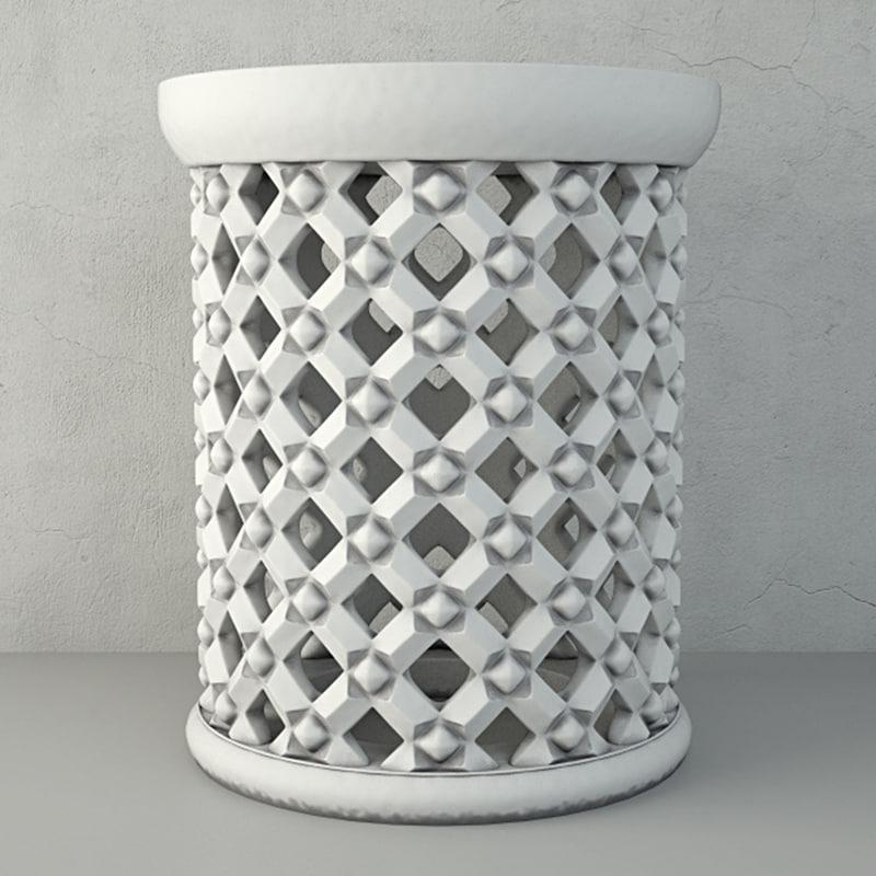 3D moroccan garden seat model