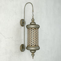 moroccan metal sconce 3D model