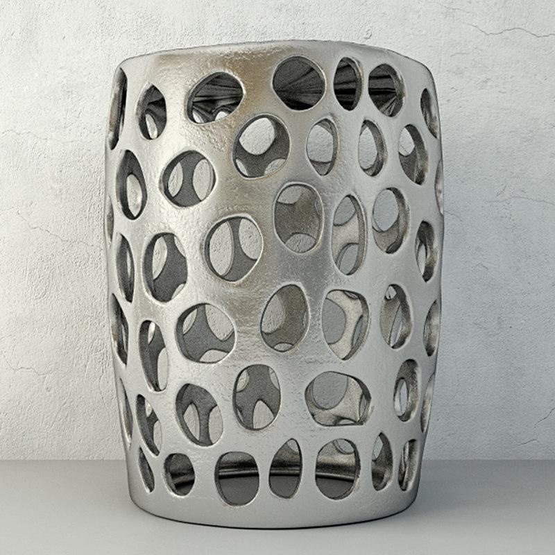 3D stool aluminium