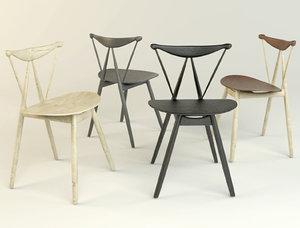 chair piano stellar works 3D model