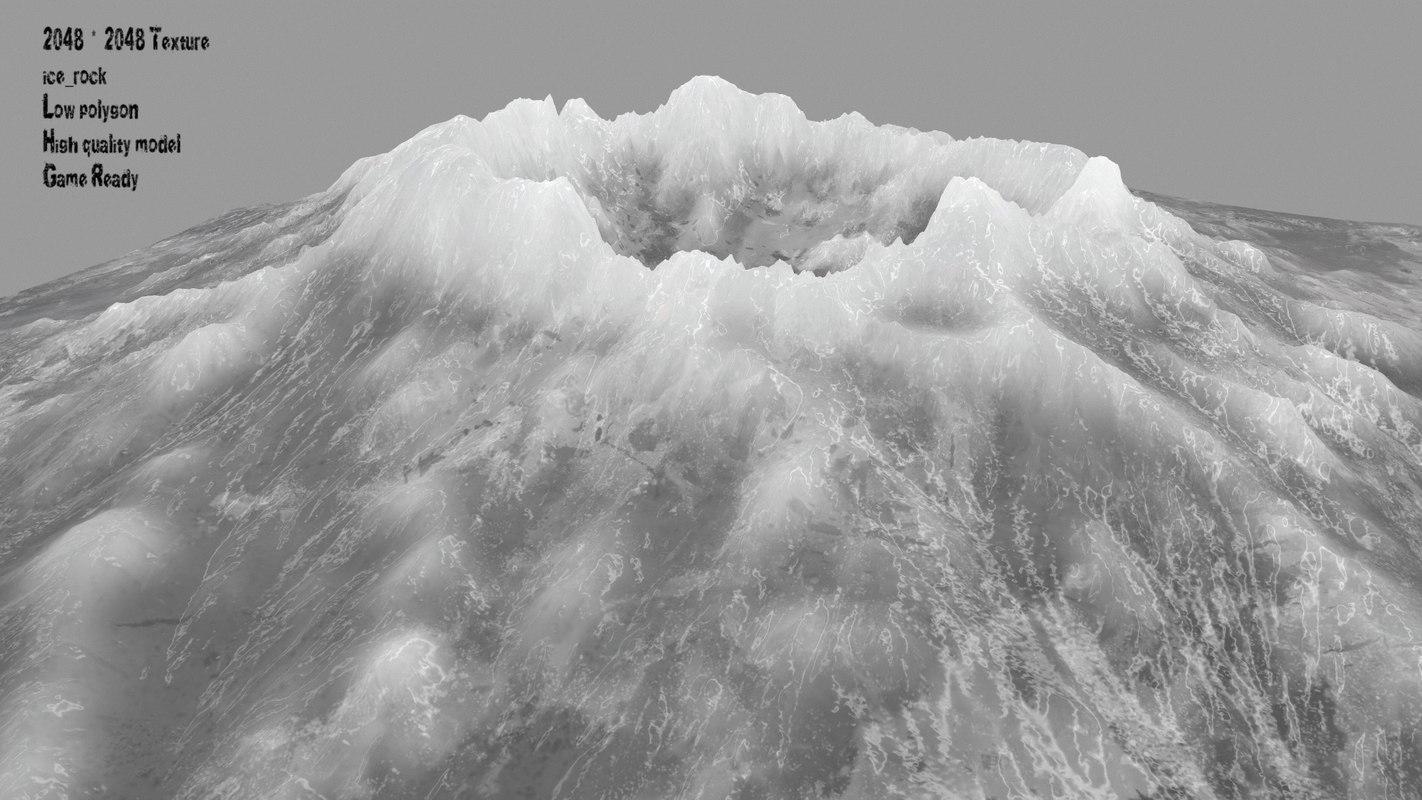 snow volcano 3D model