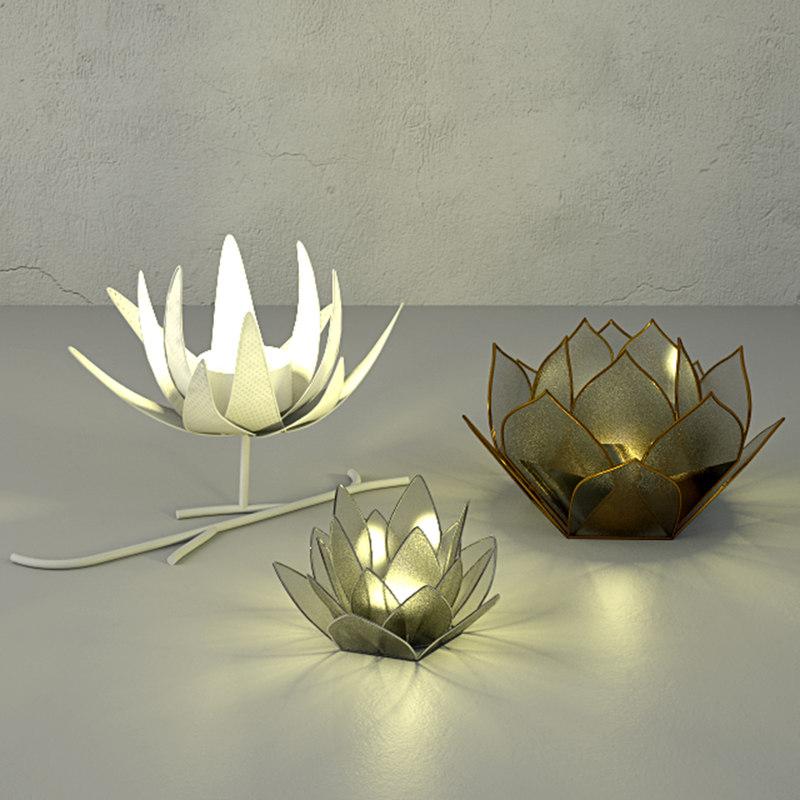 3D tealight holders zara home model