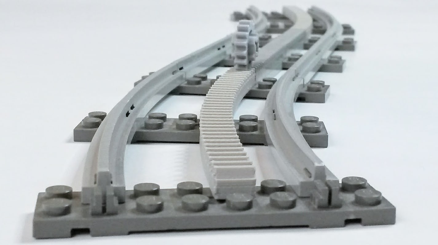 3D curved racks lego
