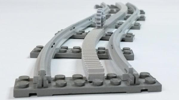 3D curved racks lego