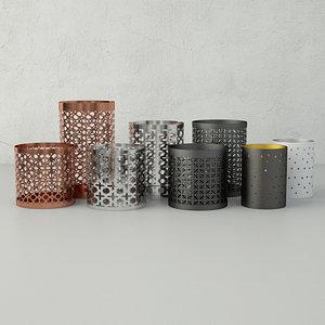 tealight holders home 3D