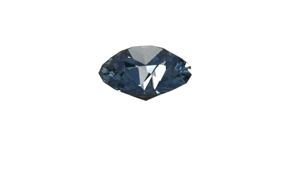 3D diamond brilliant-cut model