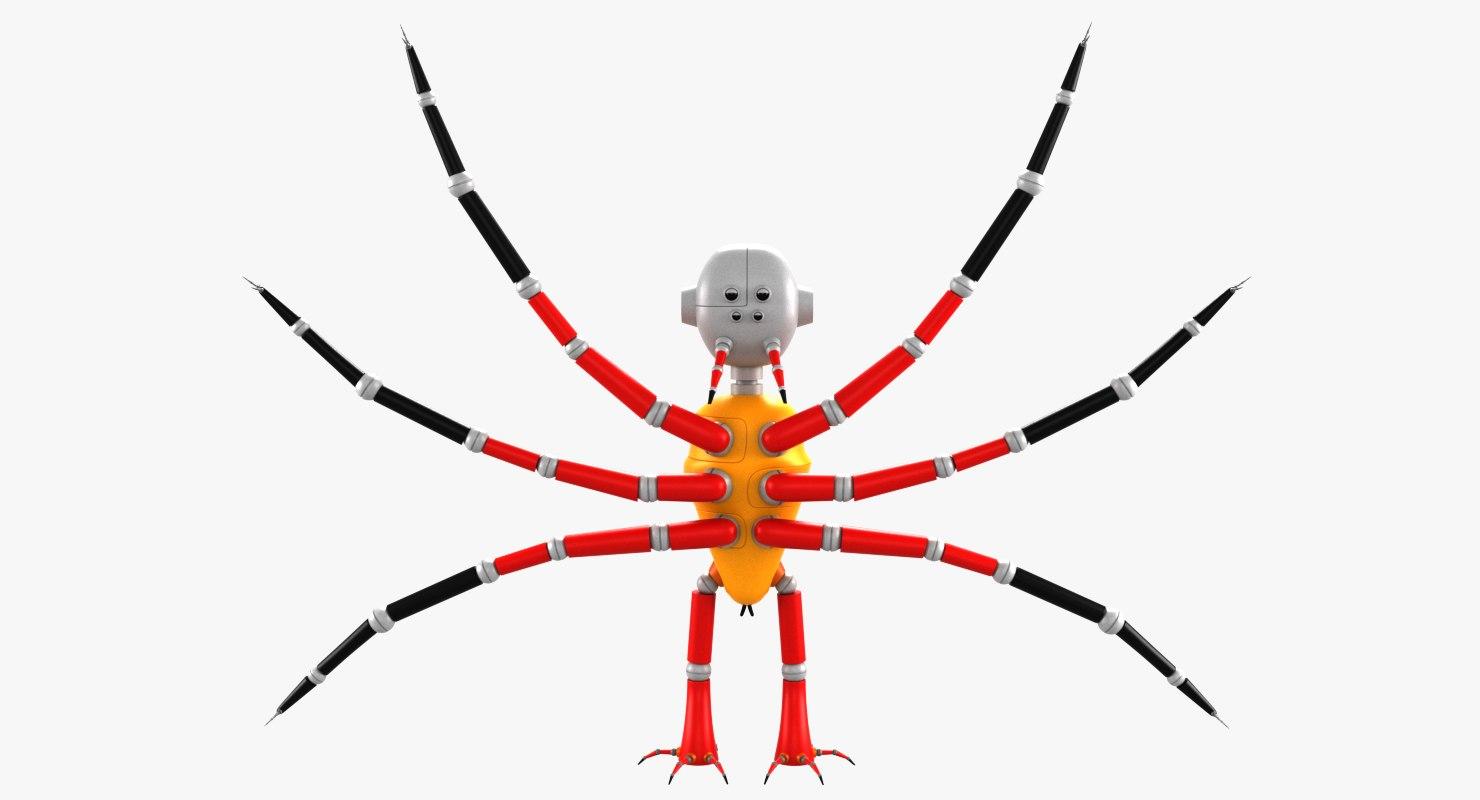 3D robot spider bot