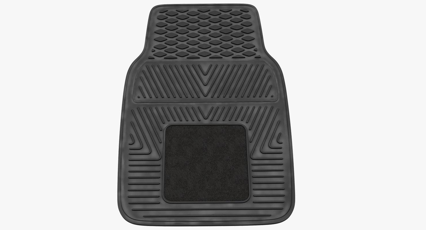 car floor rubber mat 3D model