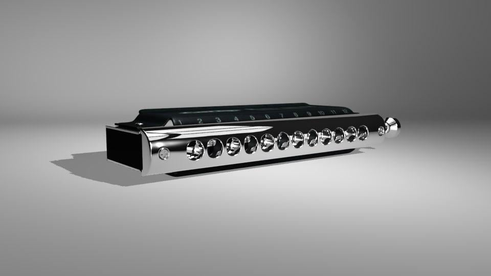 chromatic harmonica easttop dream 3D model