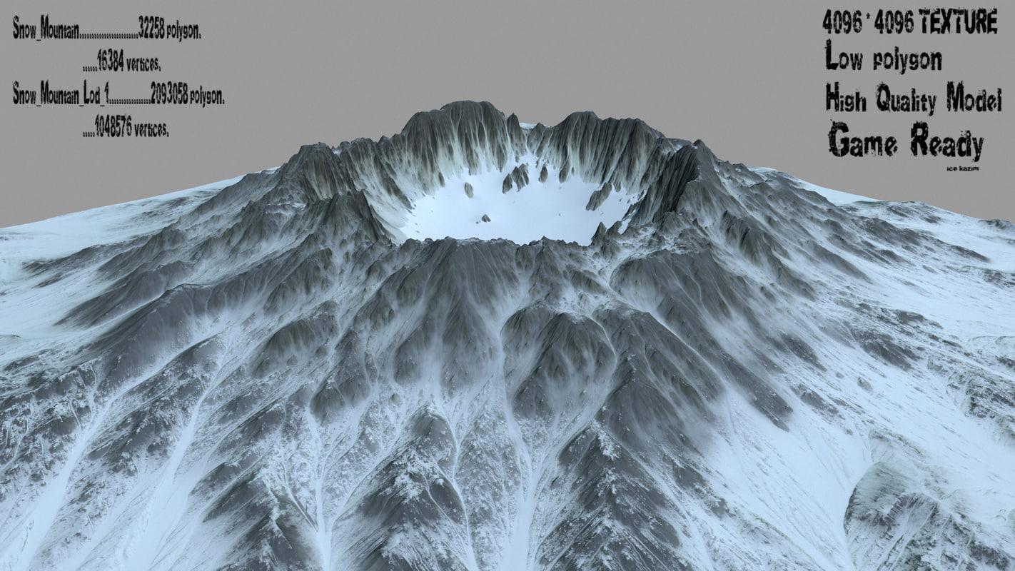3D snow volcano