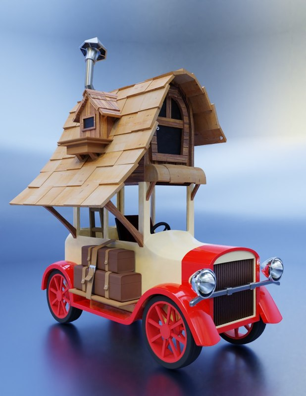 3D toy car home model