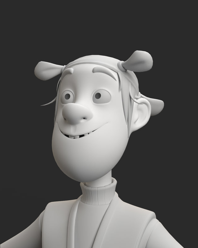 3D pirate cute character