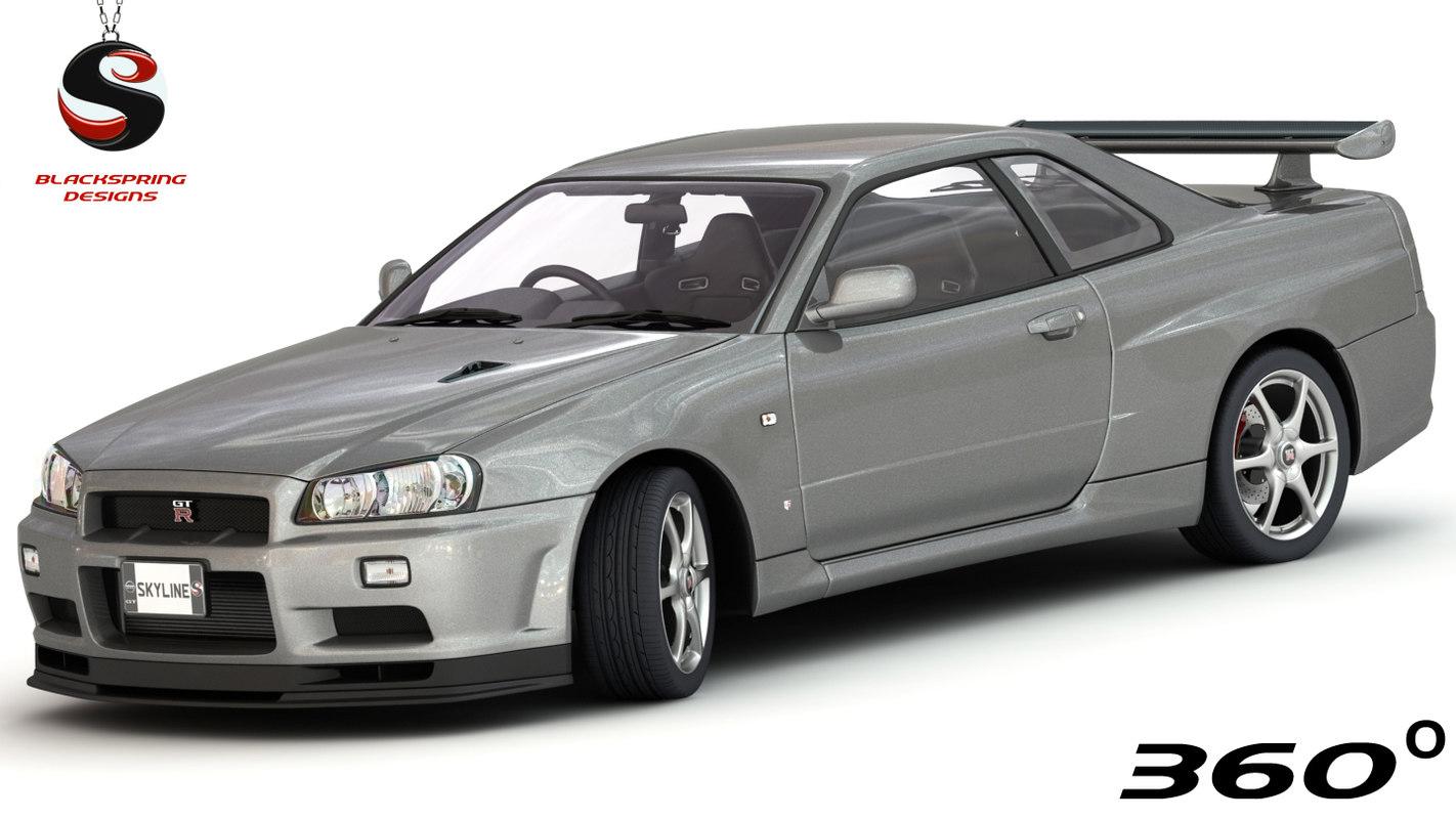nissan skyline gt-r v-spec 3D model