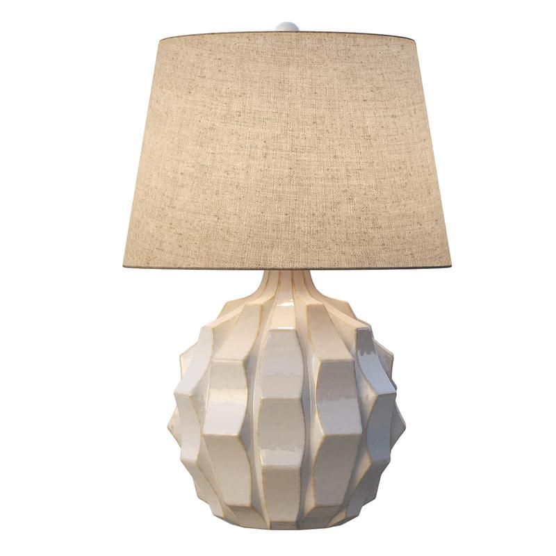white ceramic table lamp 3D model