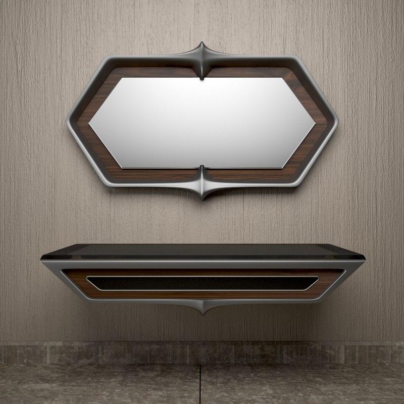 mirror shelf 3D model