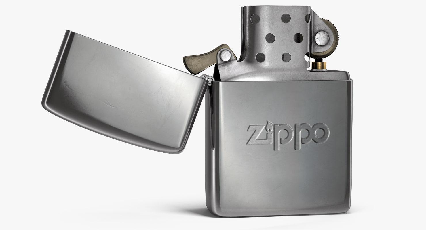 3d Classic Zippo Lighter Turbosquid 1187374