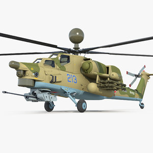 attack helicopter mi 28n 3D model
