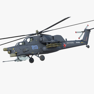 3D model attack helicopter mi 28h