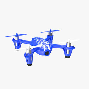 hubsan x4 h107c blue 3D model