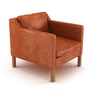 chair custom danish arm 3D model