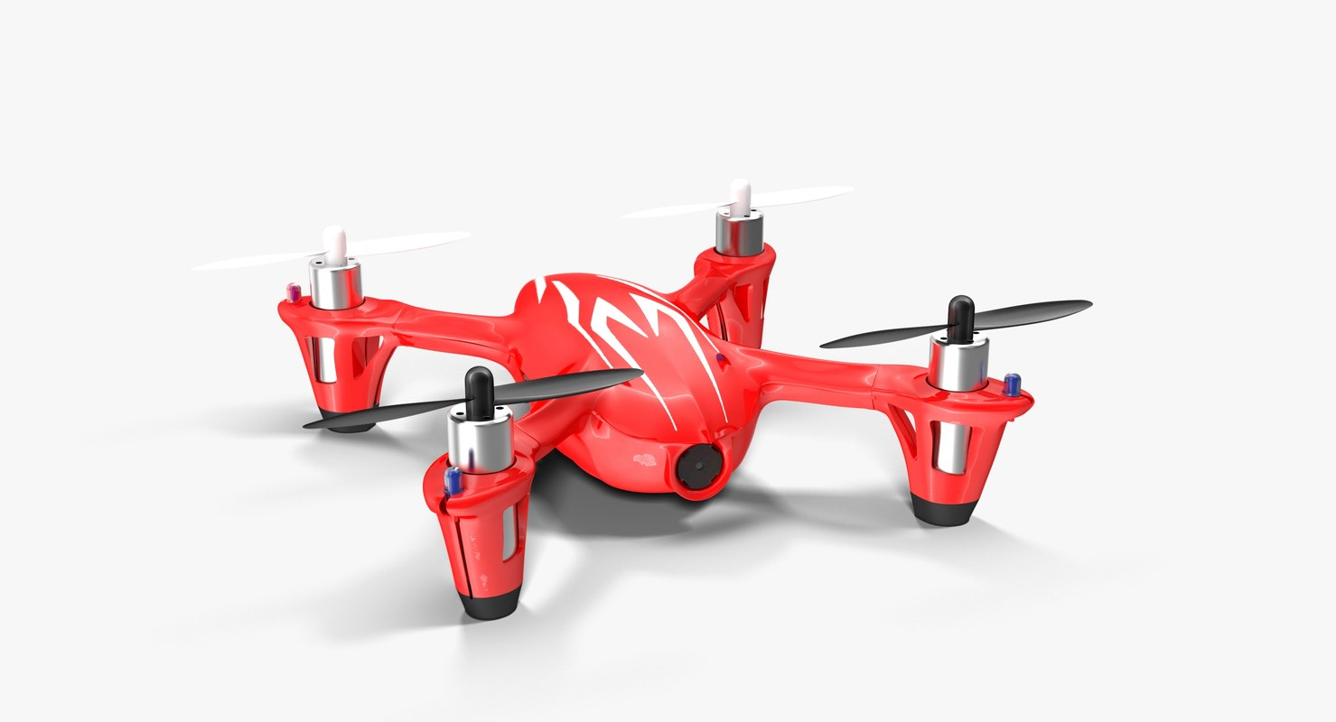 hubsan x4 h107c red 3D