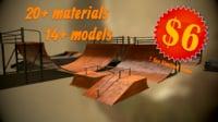 3D model skateboarding park