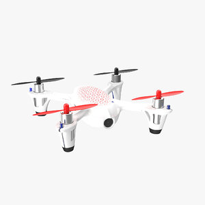 3D hubsan x4 h107c white model