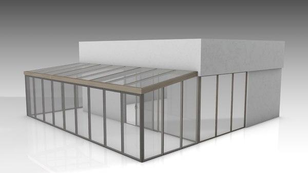 conservatory 3D model