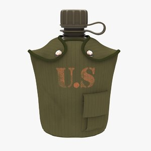 flask 1 qt cloth 3D